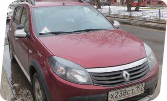 Уроки вождения на Renault Sandero мкпп