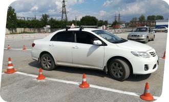Уроки вождения на Toyota Corolla акпп