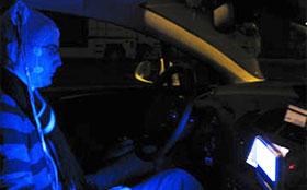 Синий свет заменяет водителям кофе