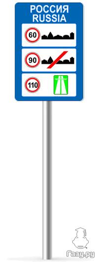 Знак 6.1 Общие ограничения максимальной скорости